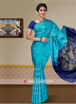Zari Weaving Pure Silk Saree