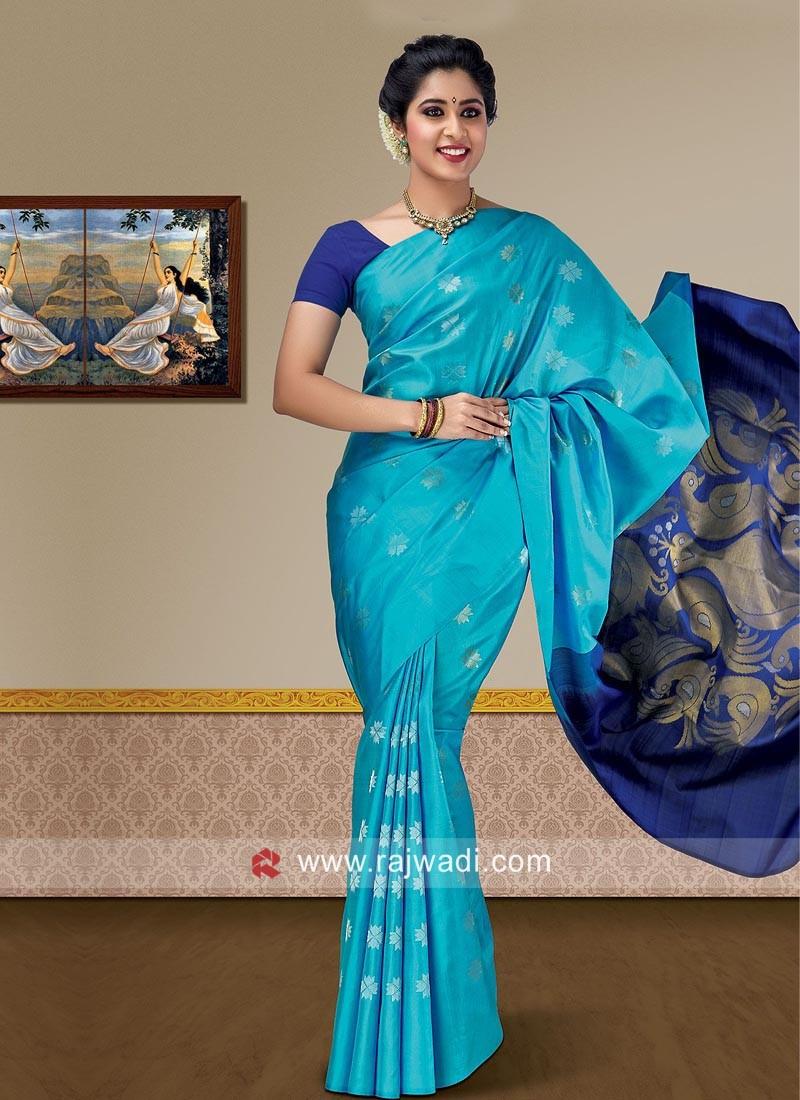 Zari Weaving Pure Silk Saree