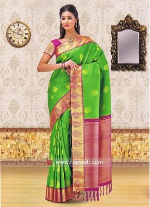 Zari Weaving Saree with Border