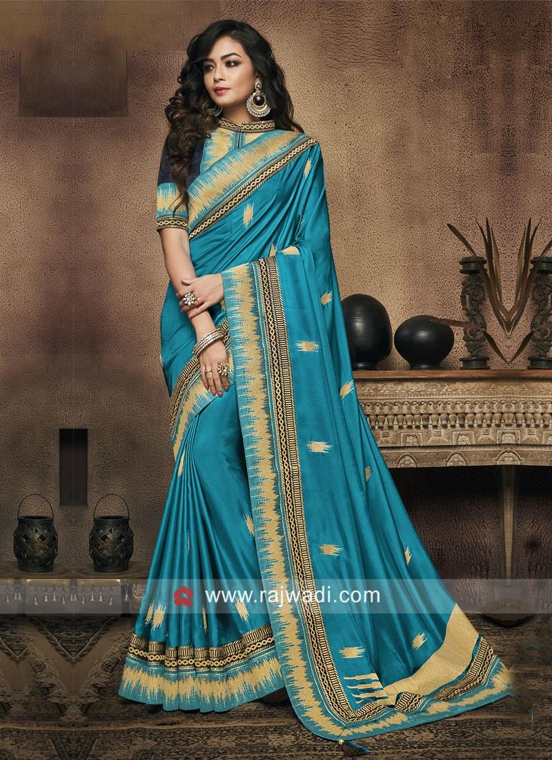 Zari Weaving Wedding Saree