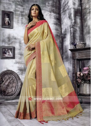 Zari Work Art Silk Saree