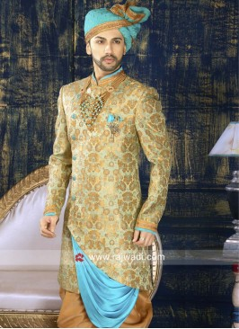 Zari Work Indo Western For Wedding