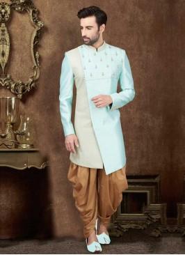 Zari Work Indo-Western In sky Blue Color