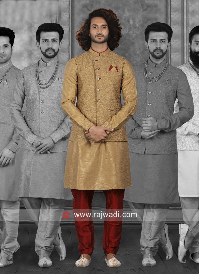 Classic Art Silk Nehru Jacket