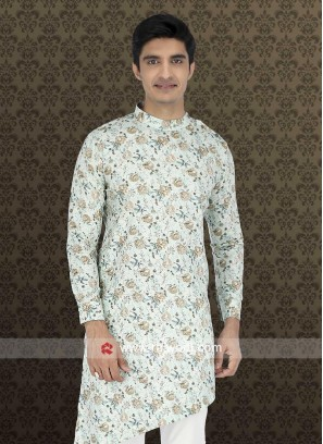 Charming Light Pista Color Kurta