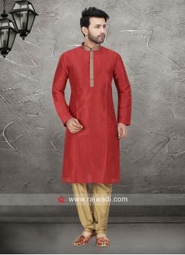 Red Kurta Pajama For Mens