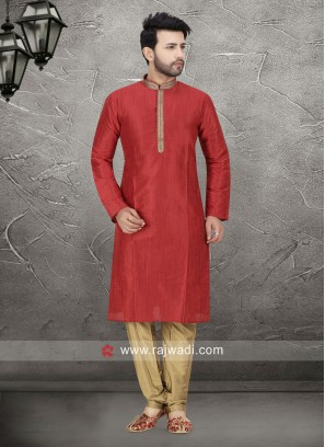 Red Kurta Pajama For Mens