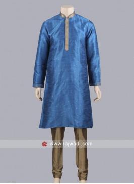 Zari Work Kurta Pajama For Mens