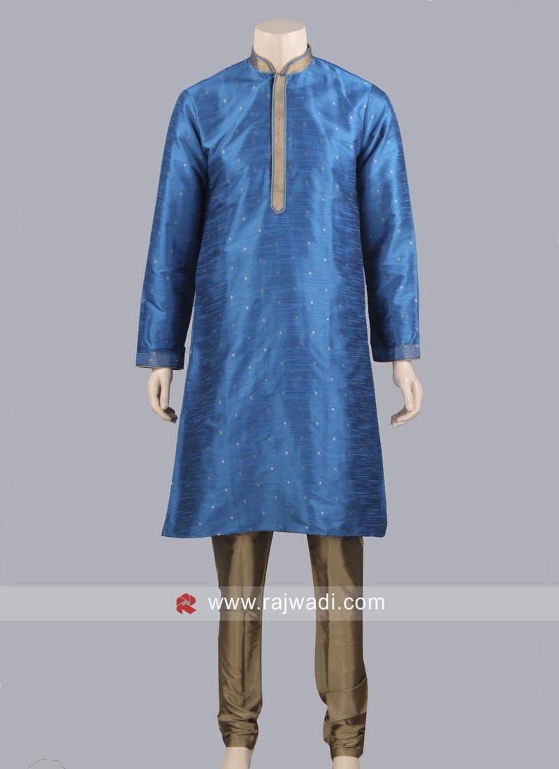 Zari Work Kurta Pajama For Mens