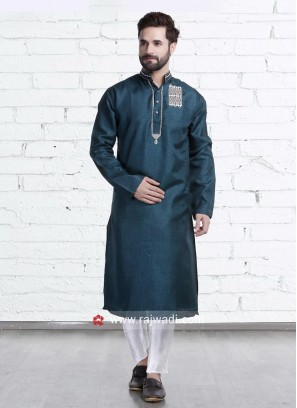 Charming Teal Color Kurta Pajama