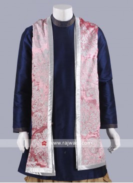 Zari Work Pink Color Dupatta