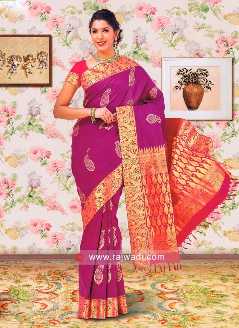 Zari Work Pure Silk Saree