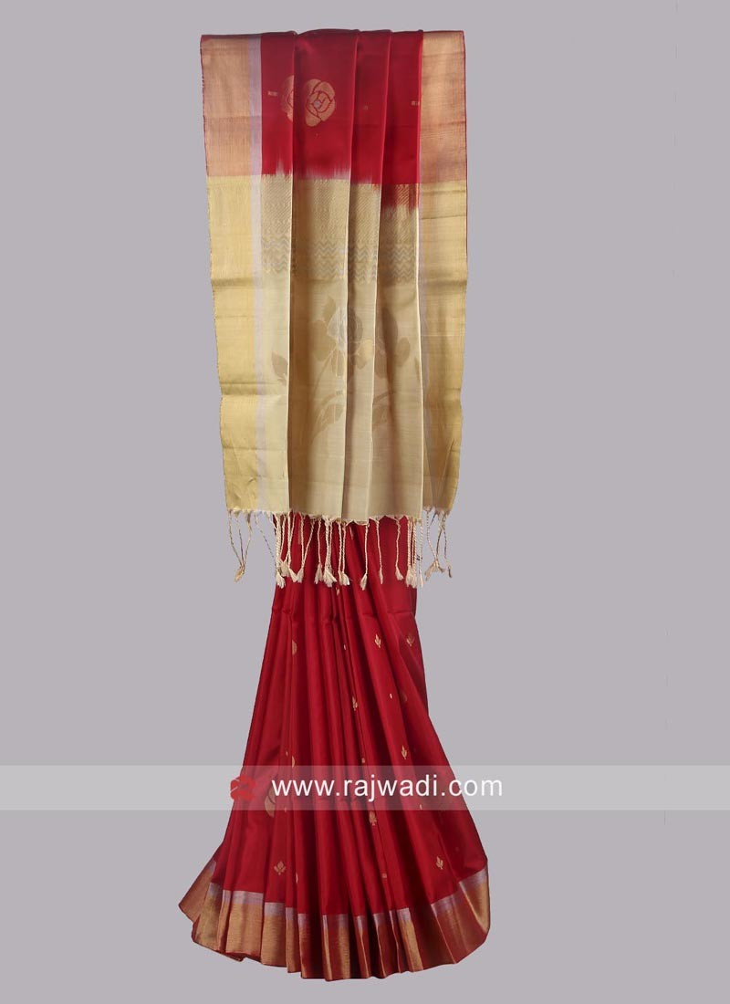 Zari Work Saree with Blouse