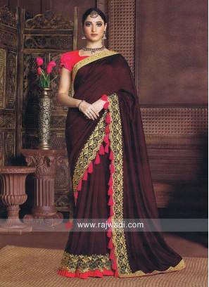 Zari Work Tamannaah Bhatia Saree