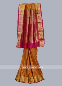 Zari Work Wedding Silk Saree