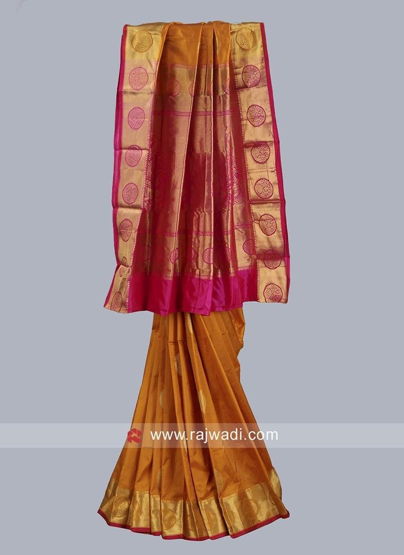 Zari Work Wedding Silk Saree