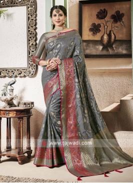 Zari Woven Banarasi Silk Saree