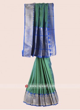 Zari Woven Saree with Blouse