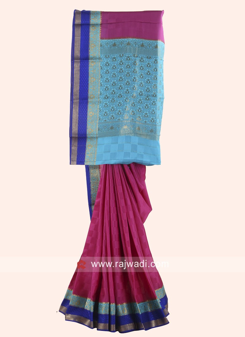 Zari Woven Saree with Border