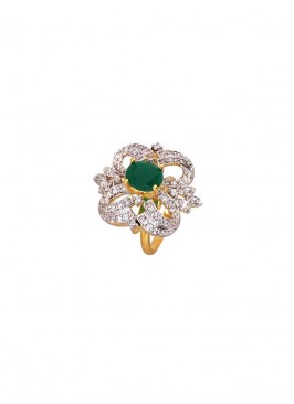 Zinc Alloy American Stone Ring