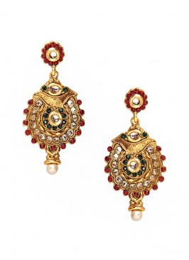 Zinc Alloy Pearl Drop Earrings