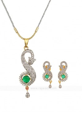 Zircon Green Pendant Set