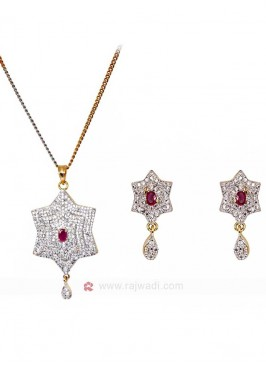 Zircon Star Pendant Set
