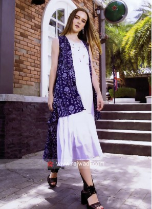 Zola Cotton Kurti with Printed High Low Style Koti
