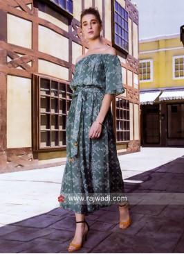 Cotton Rayon Palazzo Style Printed Kurti