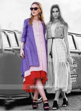 Double Layer Kurti with Long Koti