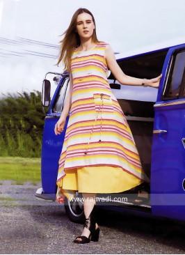 Zola Multi Stripes Layered Kurti