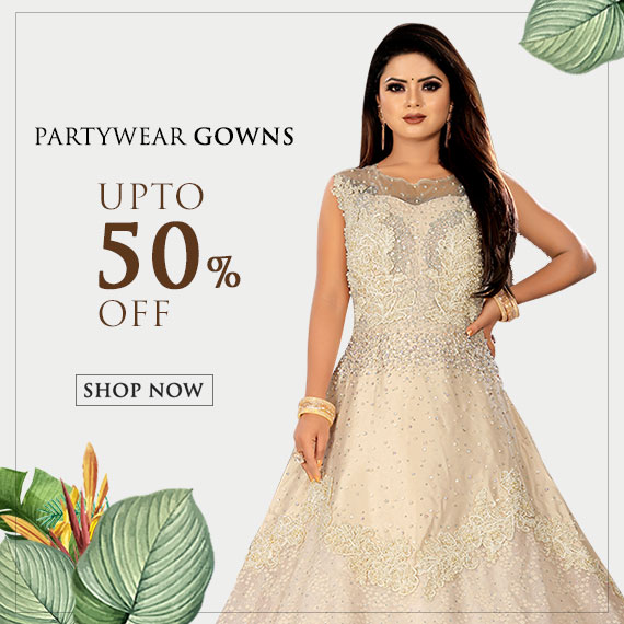 Partywear gowns on discount